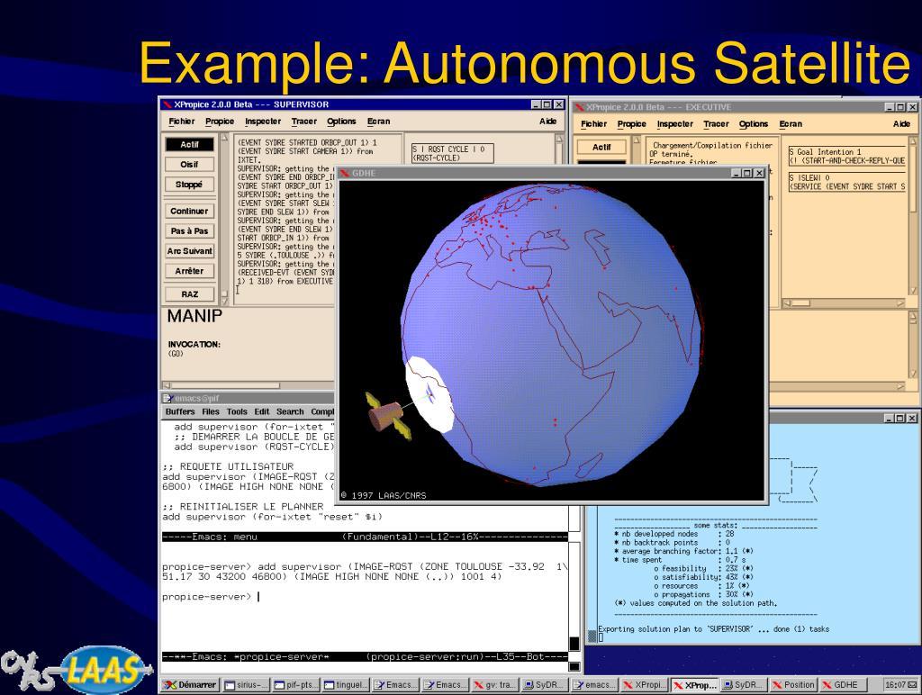 Example: Autonomous Satellite