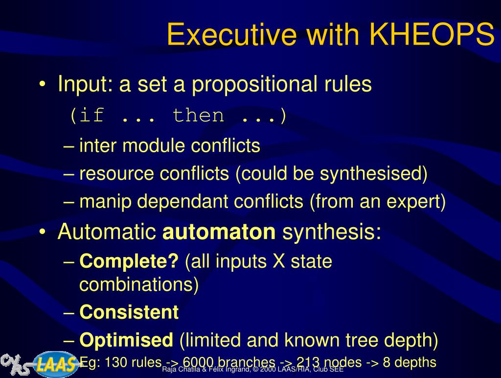 Executive with KHEOPS