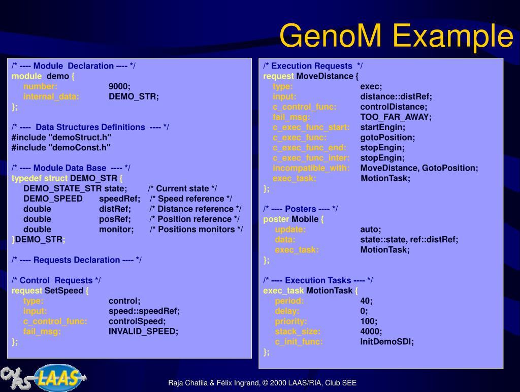 GenoM Example