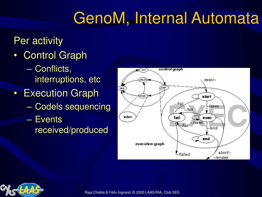 GenoM, Internal Automata