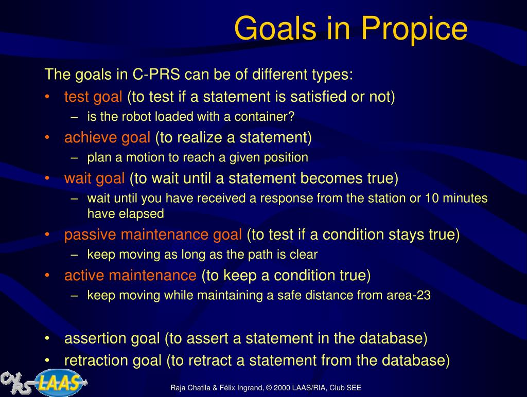Goals in Propice