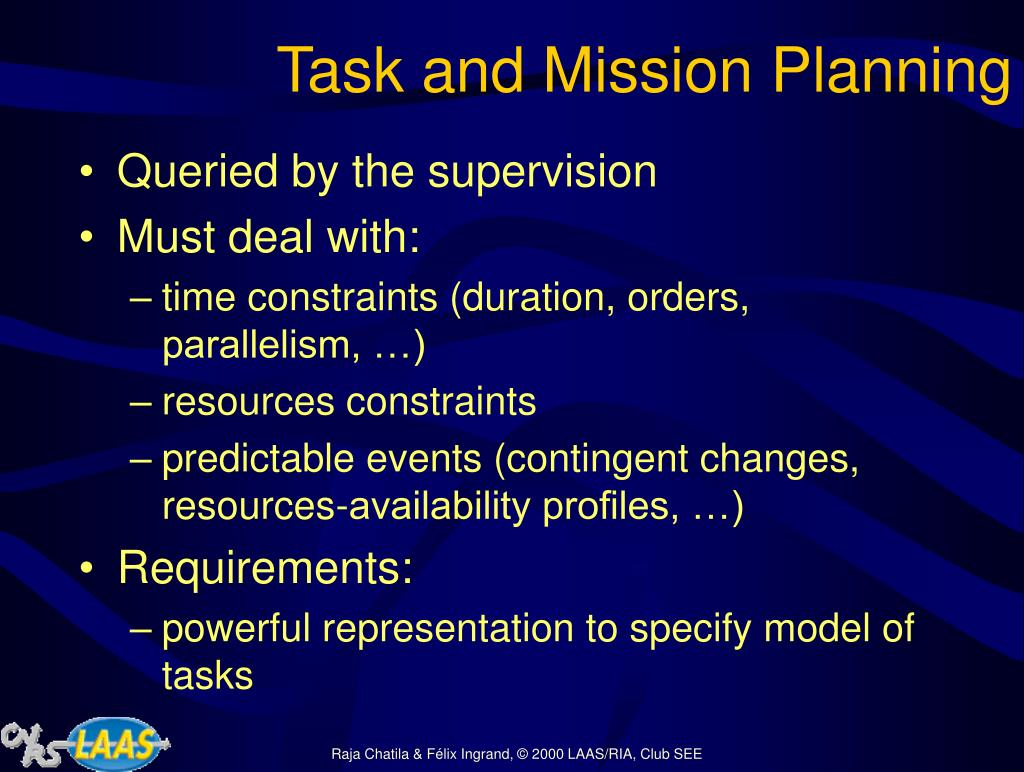 Task and Mission Planning