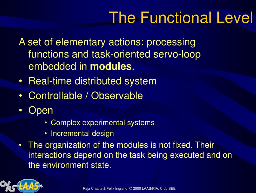 The Functional Level