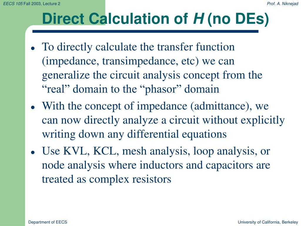 Direct Calculation of