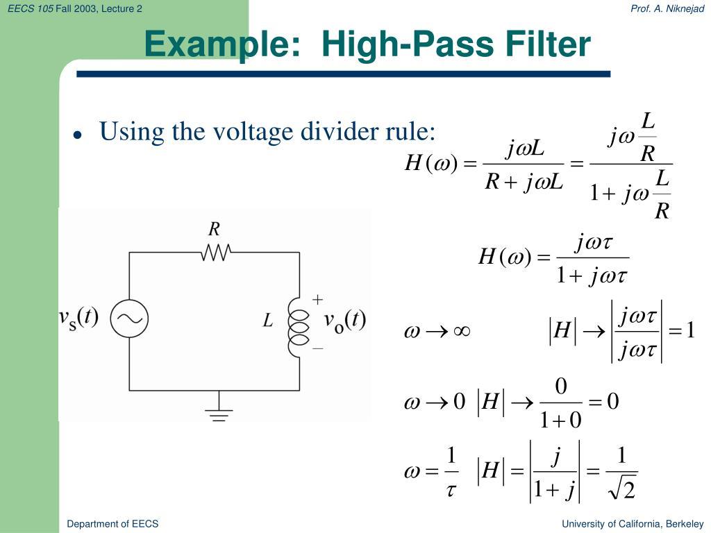 Example:  High-Pass Filter