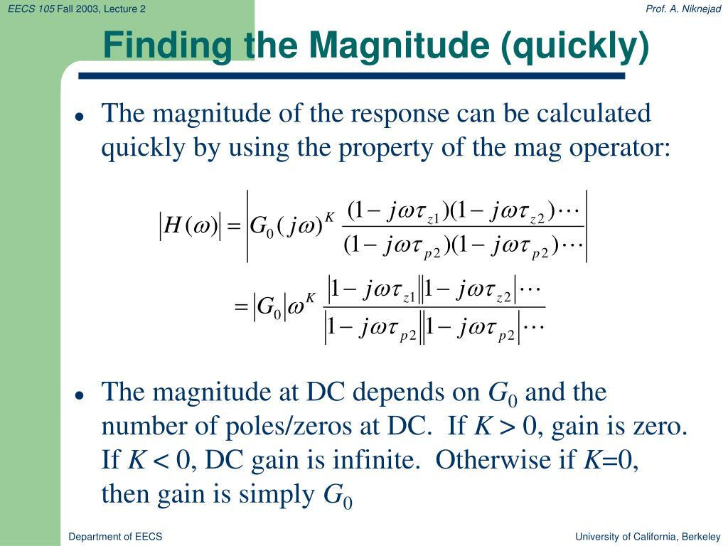 Finding the Magnitude (quickly)