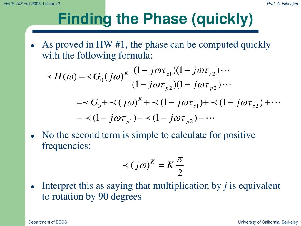 Finding the Phase (quickly)