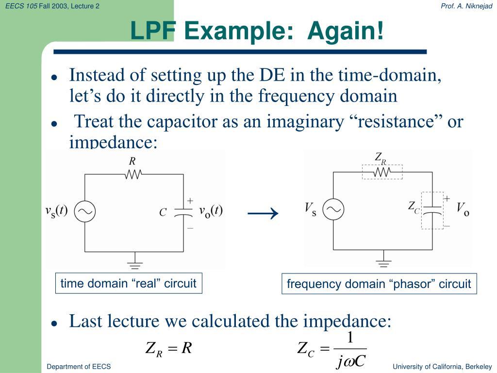 LPF Example:  Again!