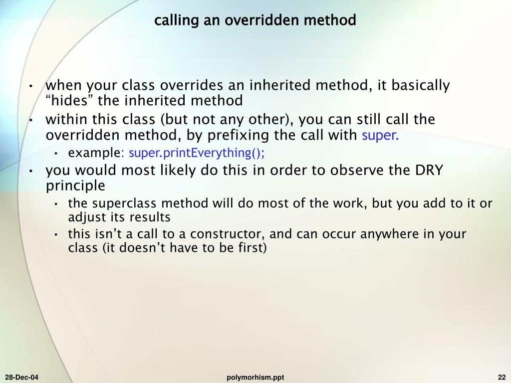 calling an overridden method