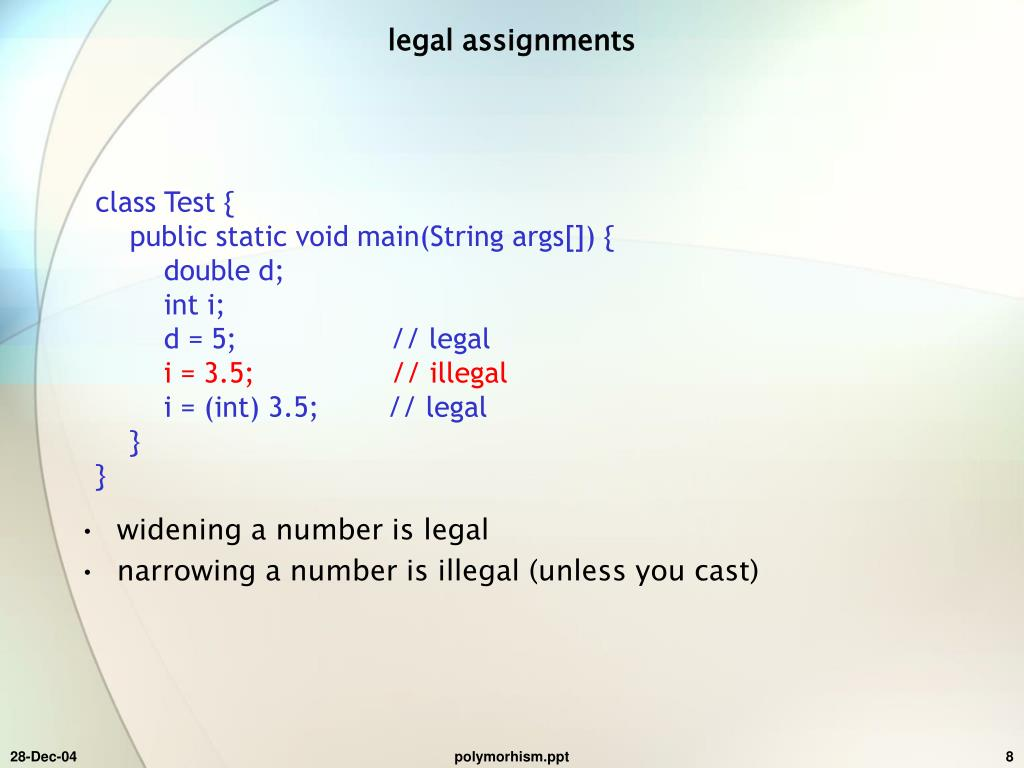 legal assignments