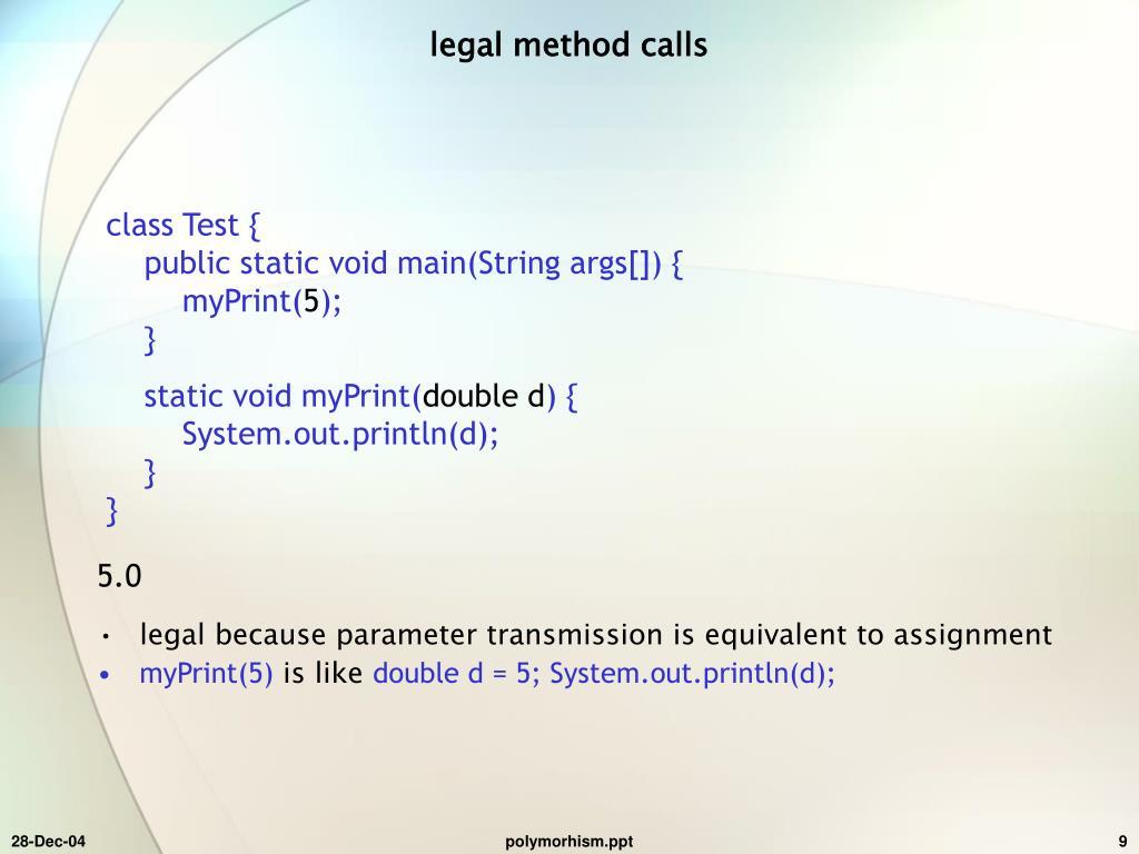 legal method calls