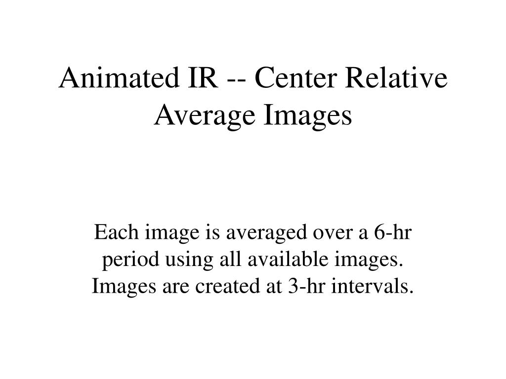 Animated IR -- Center Relative Average Images
