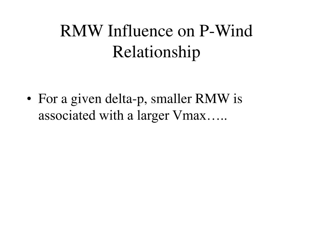 RMW Influence on P-Wind Relationship