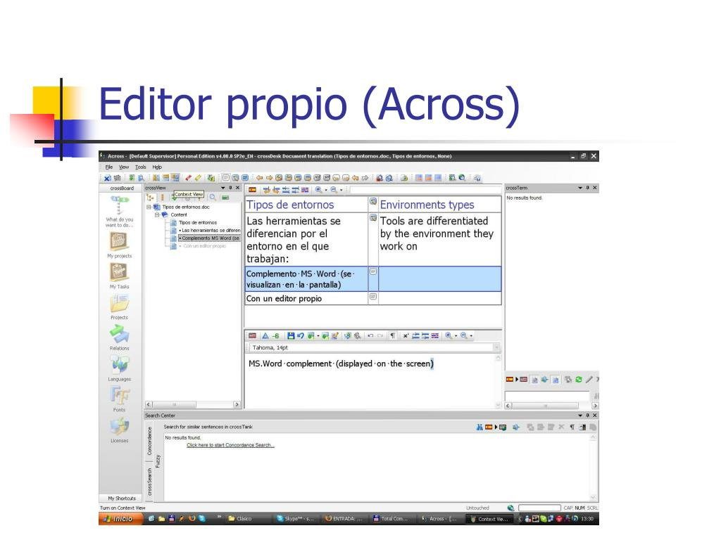 Editor propio (Across)