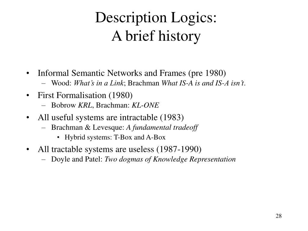 Description Logics: