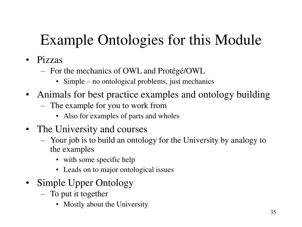 Example Ontologies for this Module
