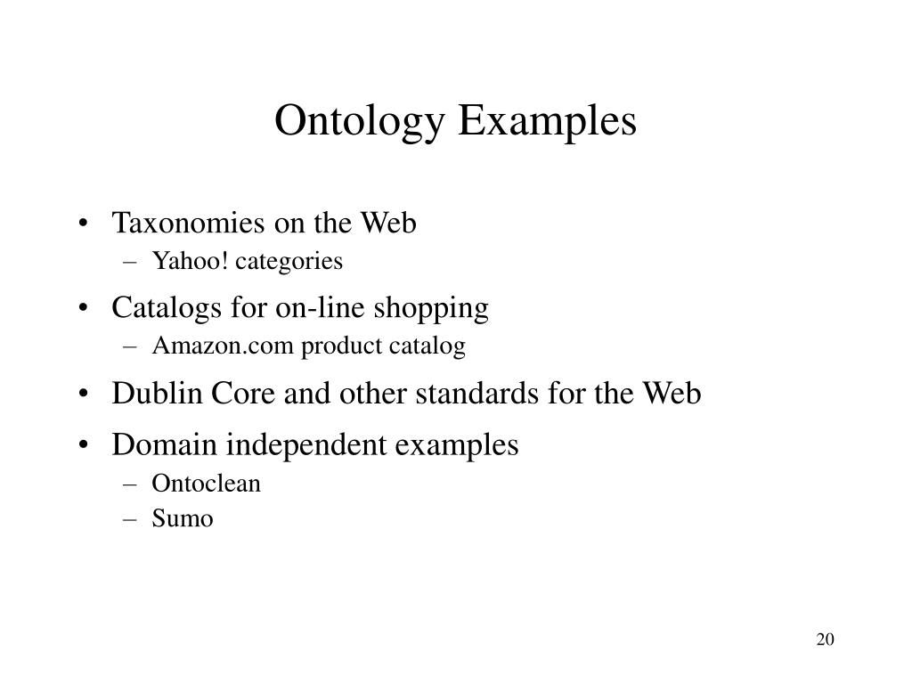 Ontology Examples