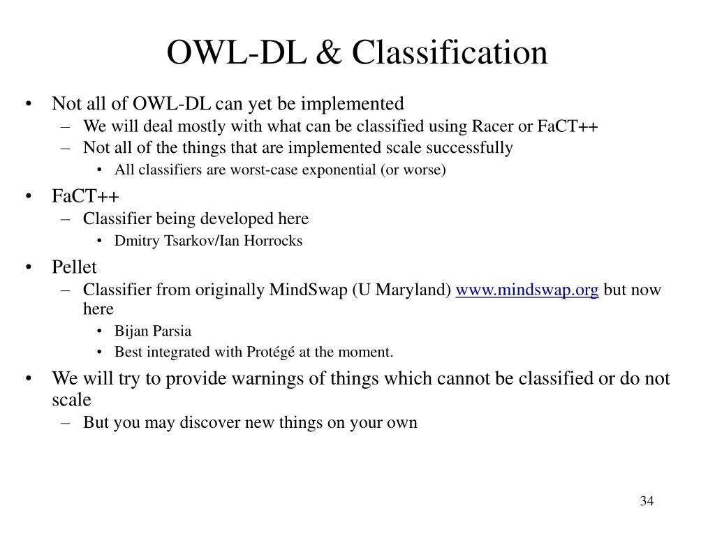 OWL-DL & Classification