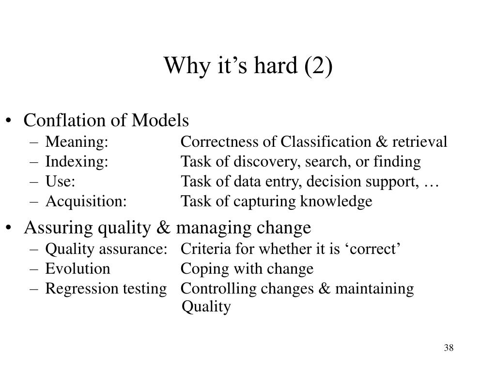 Why it's hard (2)