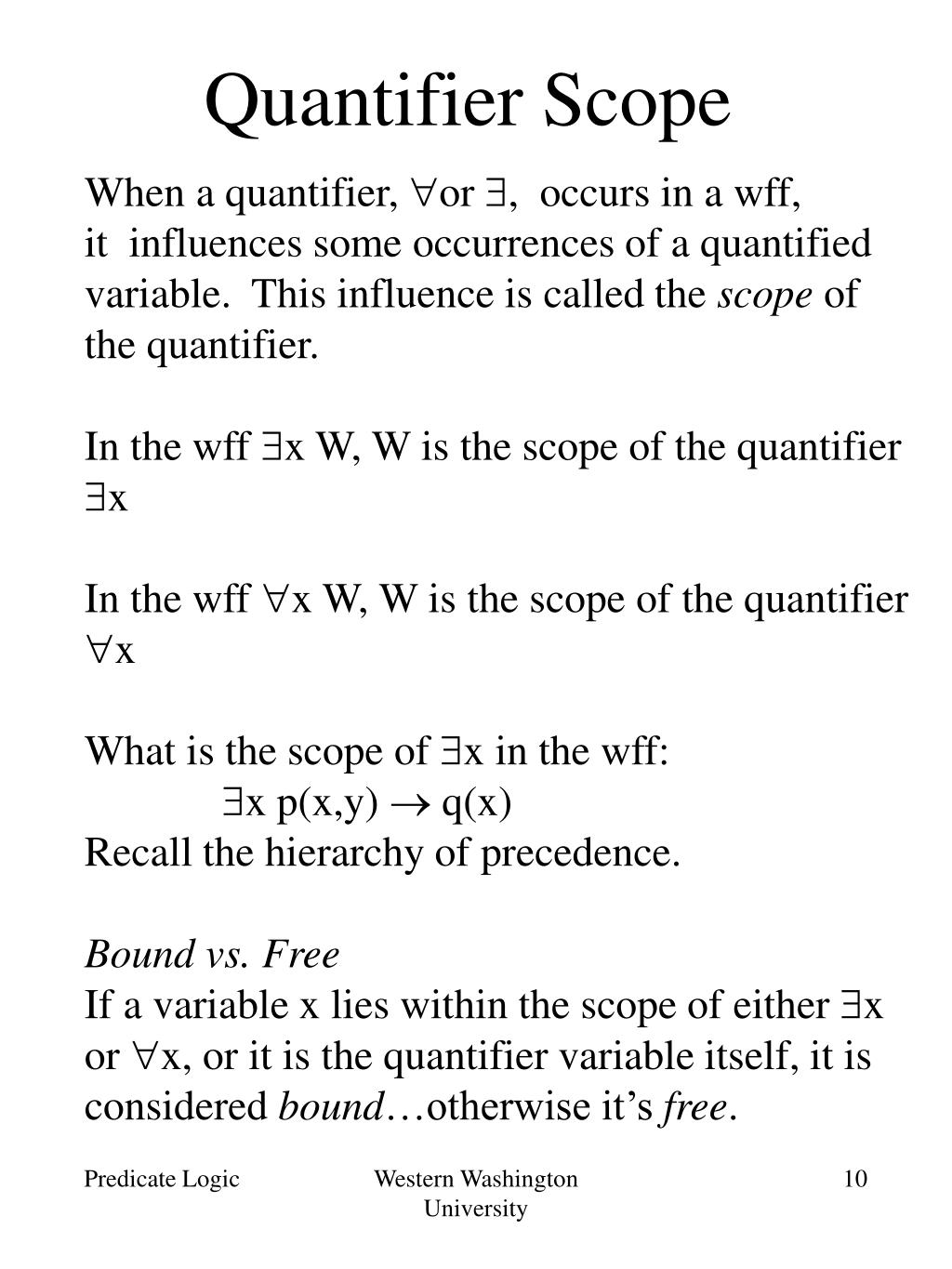 Quantifier Scope