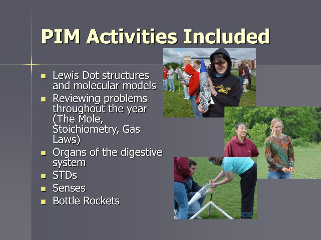 PIM Activities Included