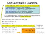 unit contribution examples22