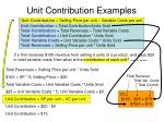 unit contribution examples23