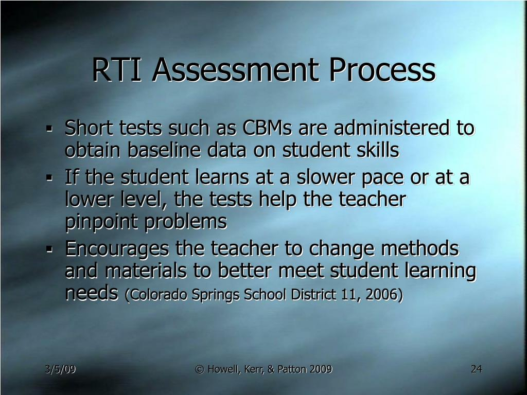 RTI Assessment Process