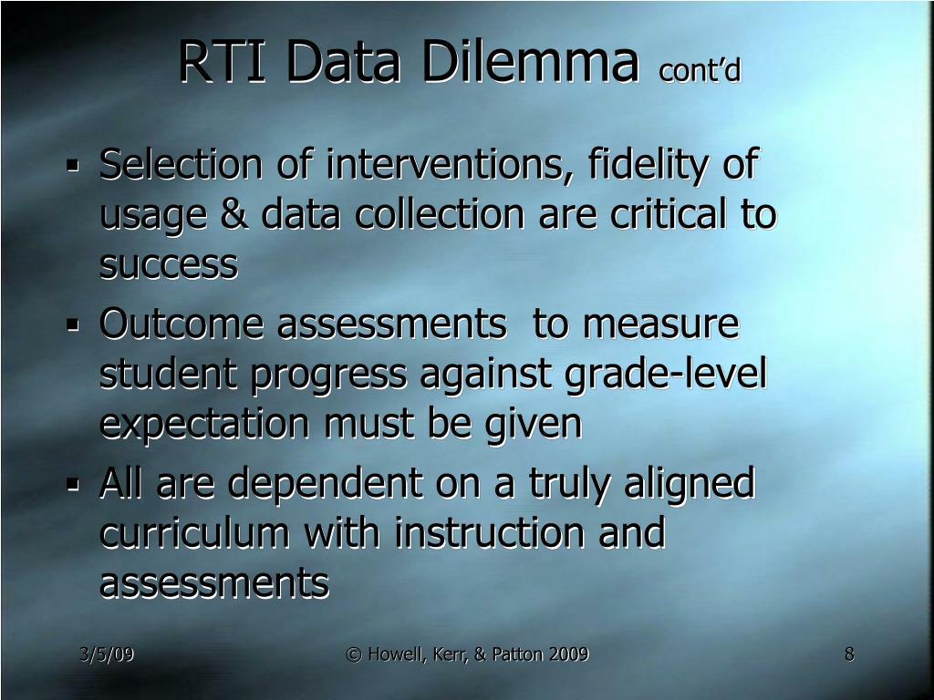 RTI Data Dilemma
