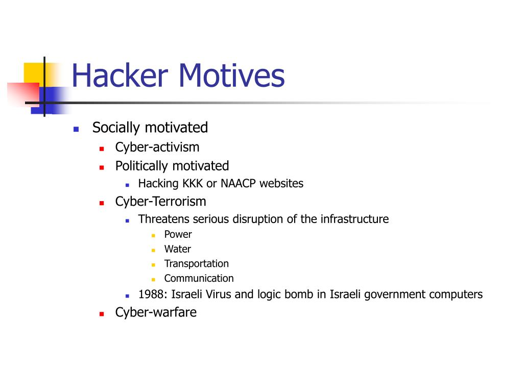 Hacker Motives