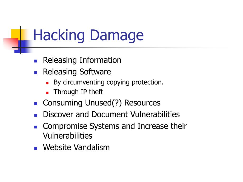 Hacking Damage