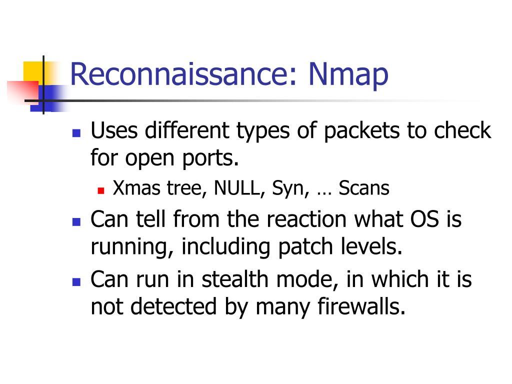 Reconnaissance: Nmap