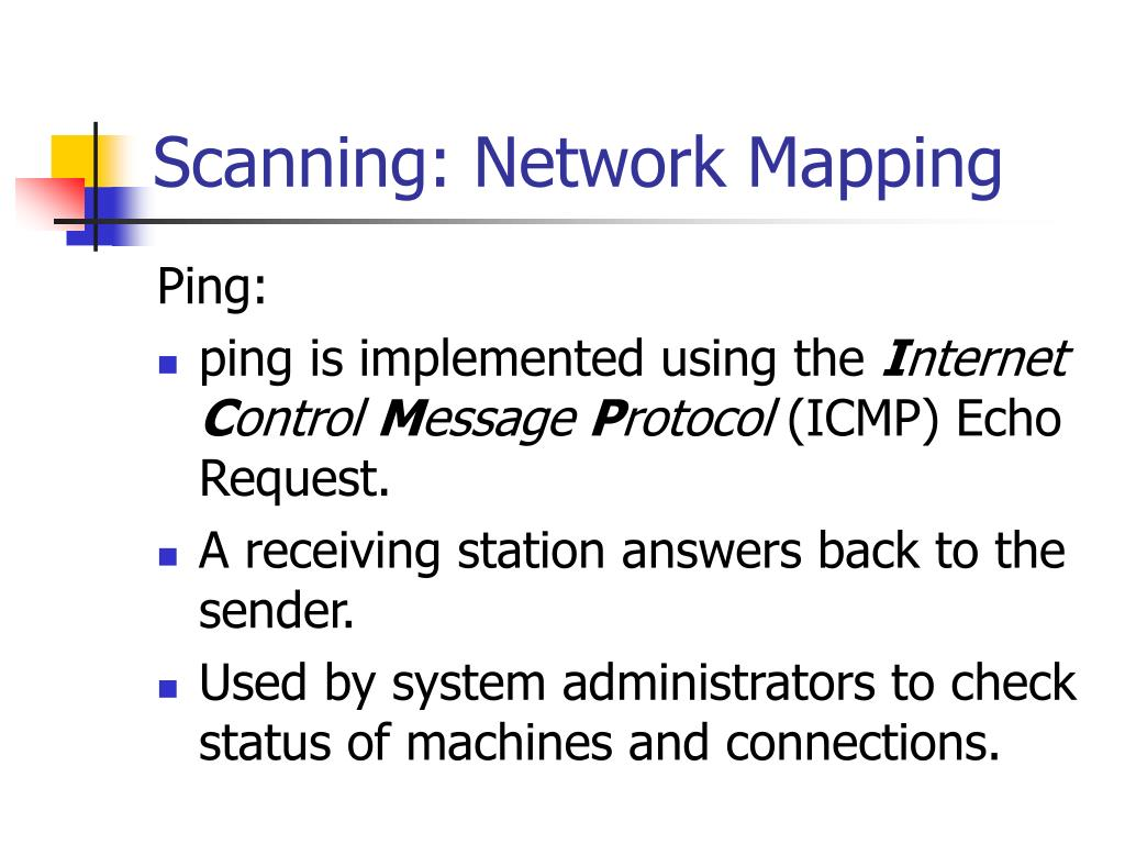 Scanning: Network Mapping