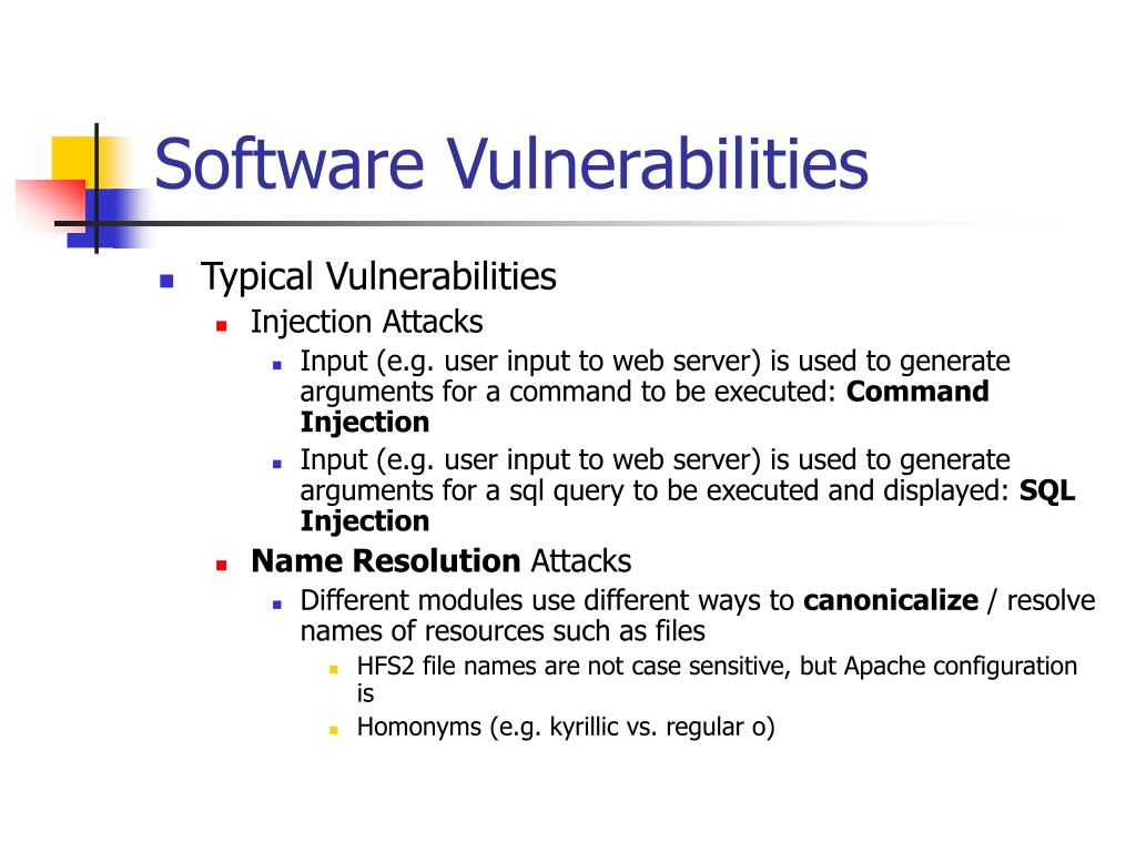Software Vulnerabilities