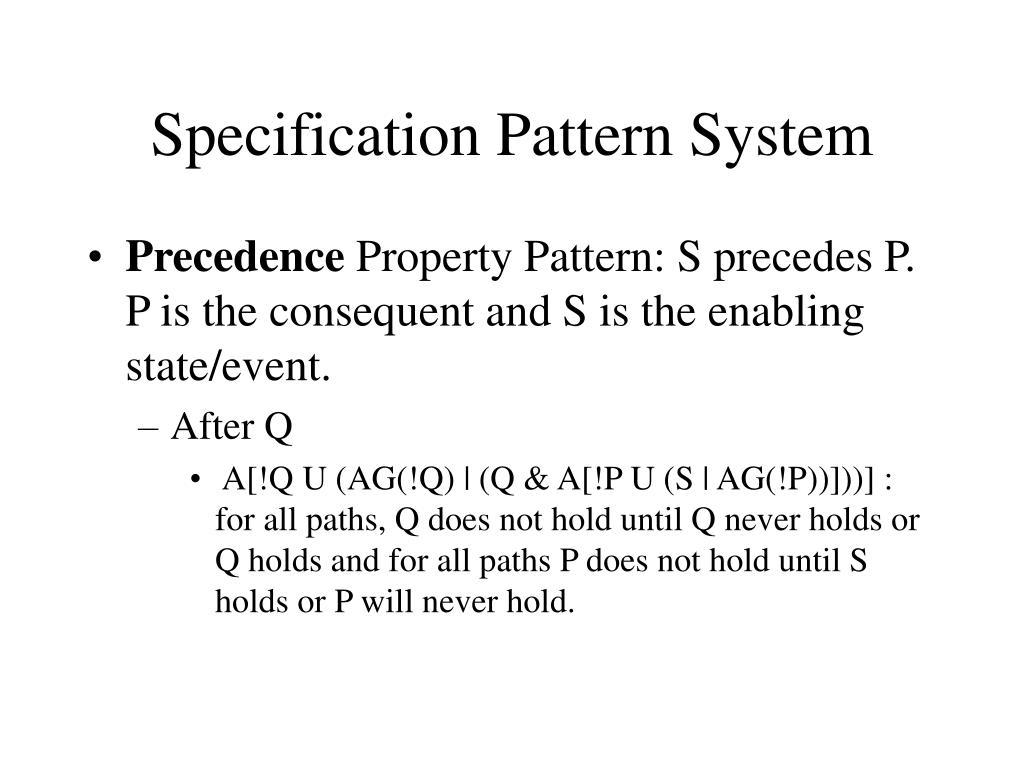 Specification Pattern System
