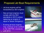 proposed jet boat requirements