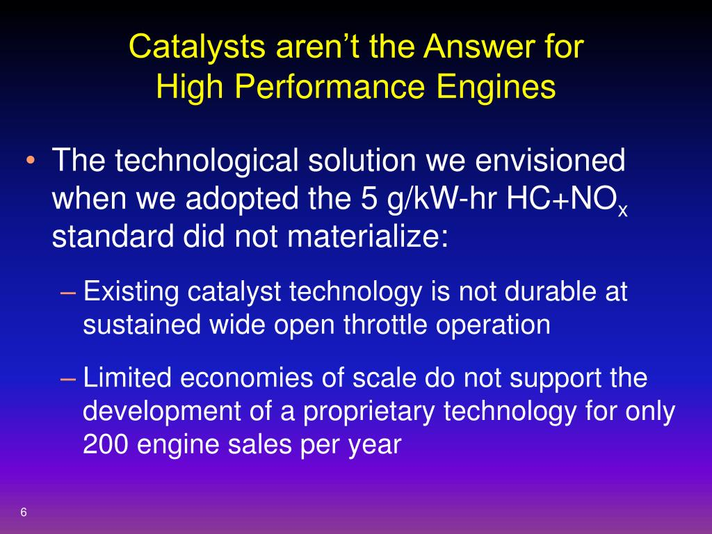 Catalysts aren't the Answer for