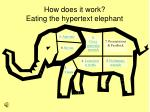 how does it work eating the hypertext elephant