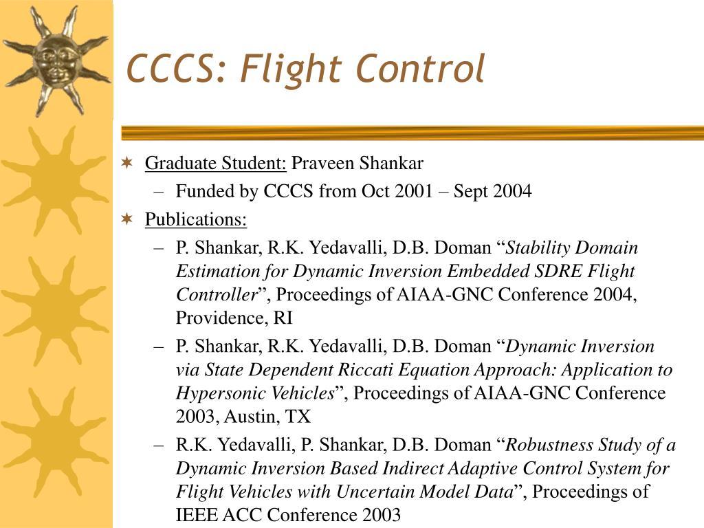 CCCS: Flight Control