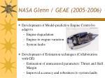 nasa glenn geae 2005 2006