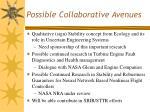 possible collaborative avenues