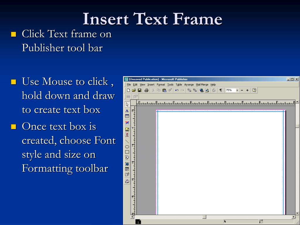 Insert Text Frame
