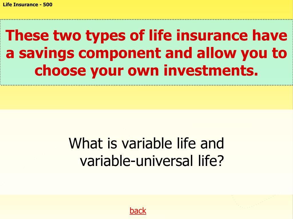 Life Insurance - 500