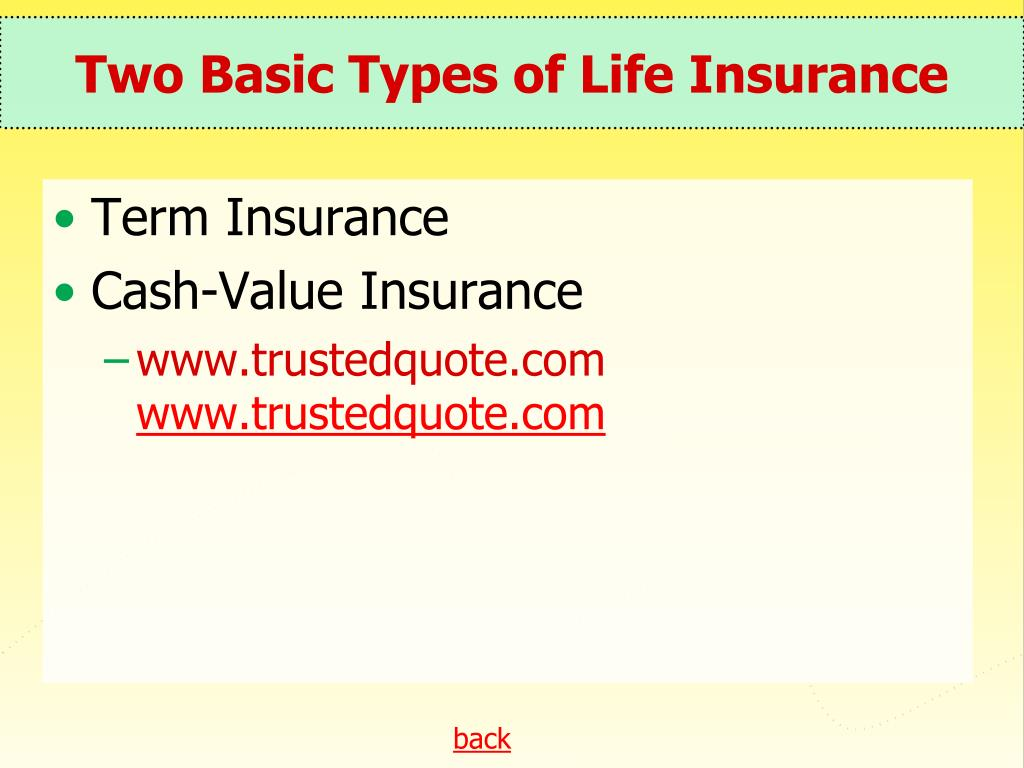 Two Basic Types of Life Insurance