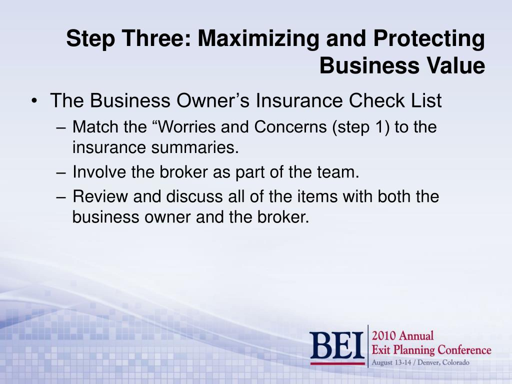 The Business Owner's Insurance Check List