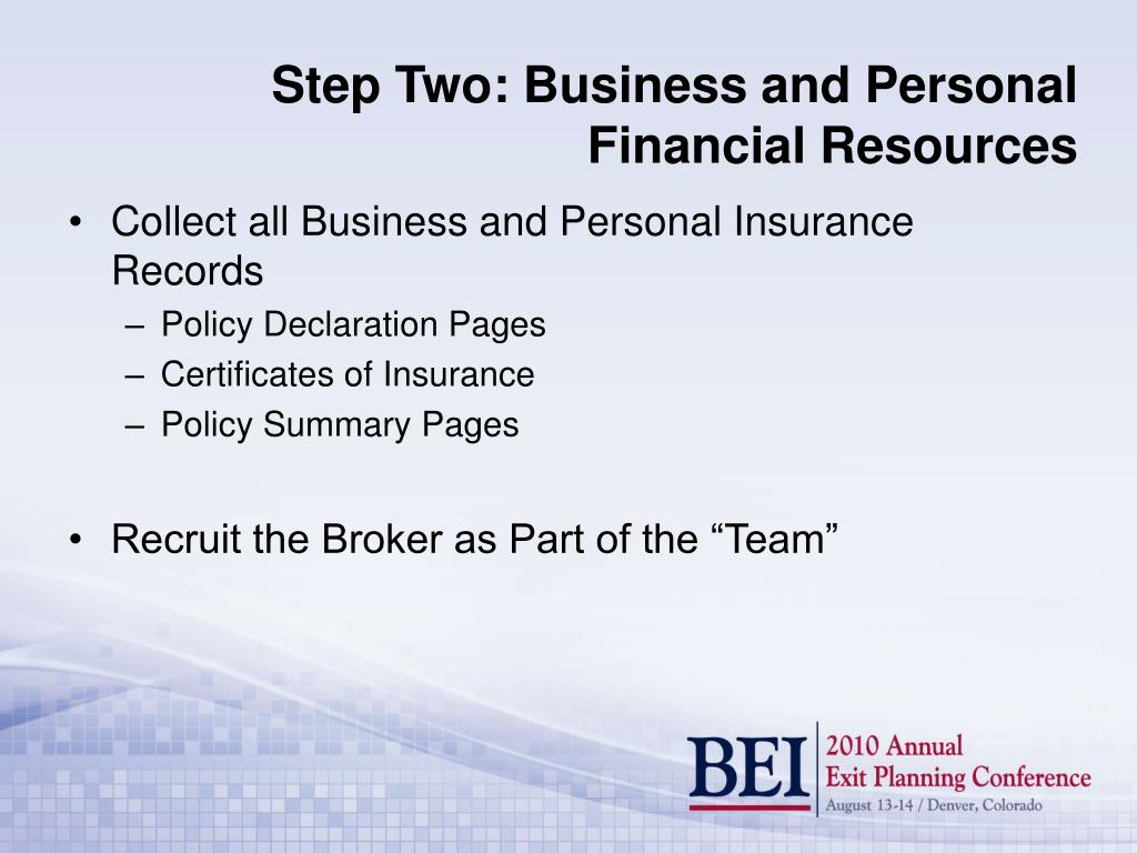 Collect all Business and Personal Insurance Records