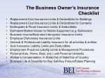 the business owner s insurance checklist