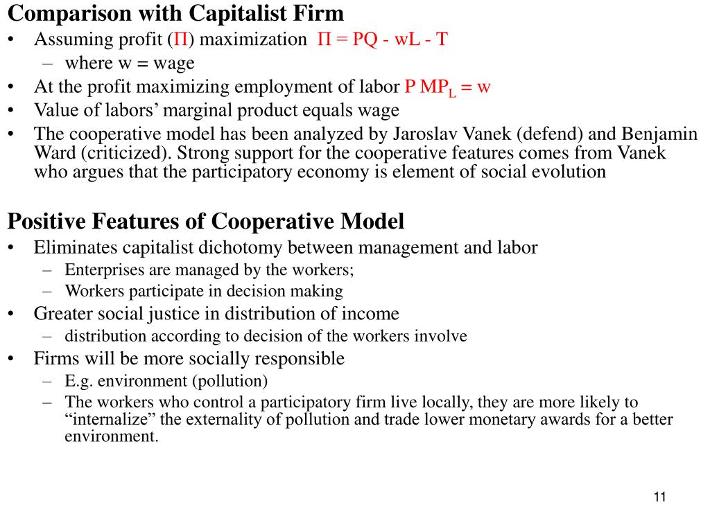 Comparison with Capitalist Firm