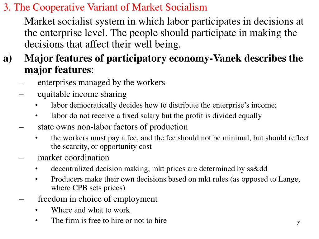 3. The Cooperative Variant of Market Socialism