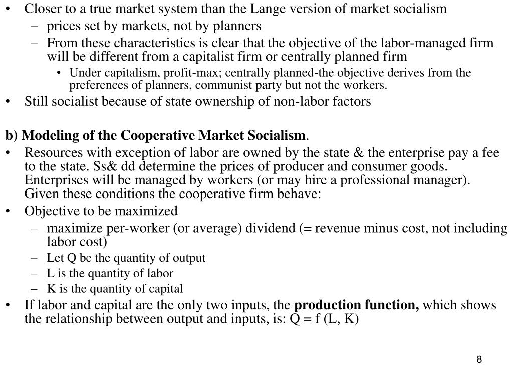 Closer to a true market system than the Lange version of market socialism